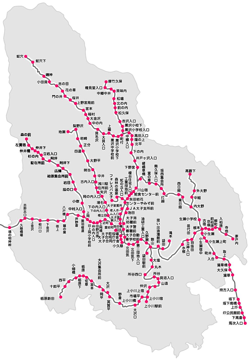 路線バス路線概要図