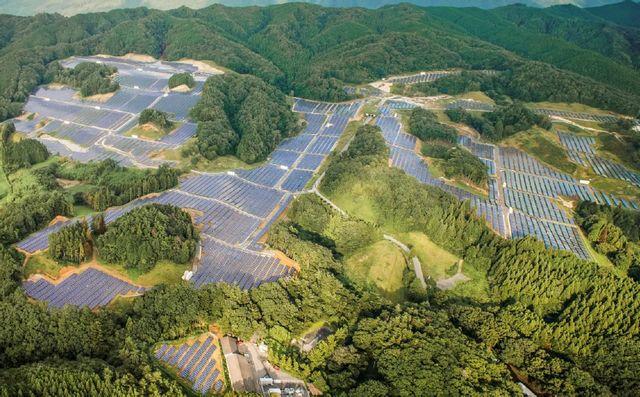 『大子町外大野地区(スパ袋田ゴルフクラブ跡地)に完成した袋田太陽光発電所』の画像