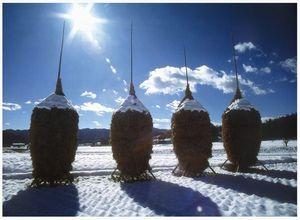 『冬晴のワラボッチ』の画像
