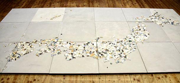 完成した日本地図