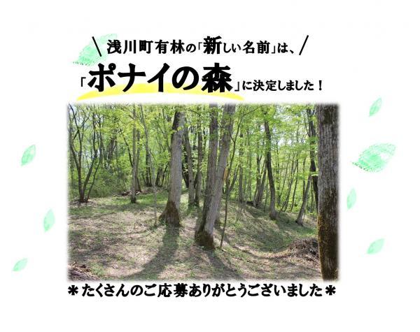 『浅川町有林新名称決定』の画像