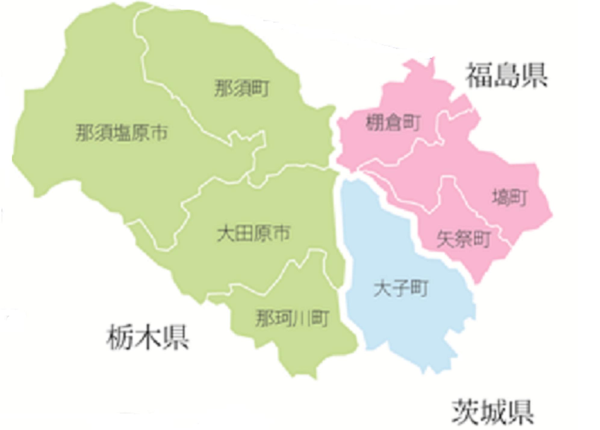 定住自立圏地図